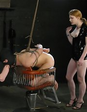 lefty has endured a lot of pain and suffering at the hands of our Dominatrixes. But always only one at a time. This time he's ordered to satisfy 2 of our cruel bitches. Can he do it? That remains to be seen, but more to the point, he's an obedient slave